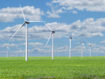 Rows of Wind Turbines Renewable Sustainable Alternative Energy Landscape Sky