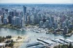 Vancouver skyline aerial view