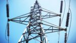 High-voltage power transmission towers , Power Lines Stock Photo