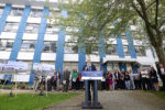 Premier John Horgan announces the province of B.C. is committing $1.3 billion upgrading and redeveloping Burnaby hospital at a press conference today in Burnaby