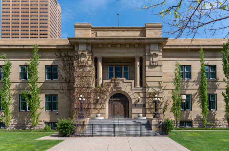 Combination of construction and restoration for law buildings in Alberta